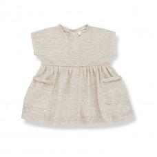 Beige linnen kleedje - Isolda beige