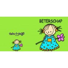 Wenskaart Rutje met bloemetje - Beterschap