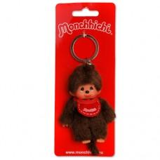 Sleutelhanger Monchhichi - jongen met rode slab