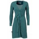 Groen kleed met leuk motief- feel- susie's shuffle