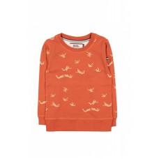 Roestbruine sweater met parachutespringers - fallin' like dominoes (stapelkorting)