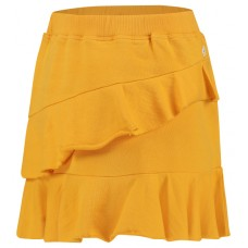 Okergeel rokje met ruches - beacon skirt