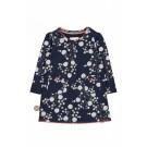 Blauw kleedje met bloemen - Venezia- great expectations  - maat 50-56 (Geboortelijst Leonie C.)