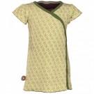 Lichtgeel kleedje korte mouwen met groene bloemen - desert journey - La porte bonheur   - maat 50-56 (Geboortelijst Linde V.H. )