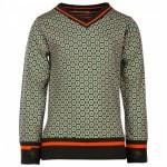 Sweater met oranjegroene print - biology utee
