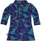 Blauw kleed met vogelprint - hear- fantastic voyage