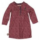 Bordeaux kleedje met stipjes - hear- treat her like a lady - maat 50-56 (Geboortelijst Suza B.)