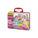 Koffer met magnetenset : prinsessen
