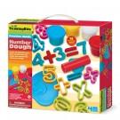 Speelcet cijfers met plasticine