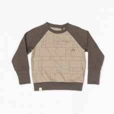 Beige sweater met vlakken - clinton sweat brindie boxes