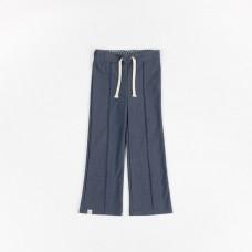 Blauwe broek met jeanslook - Hecco box pants mood indigo