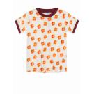 T-shirt met bloemen - Ringer hippie flower