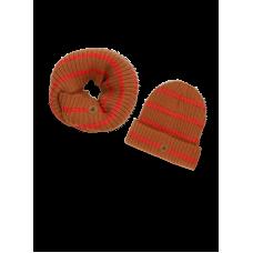 Set van sjaal en muts - Bobbie medal-bronze-stripe