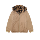 Bruine omkeerbare jas - Lola brown-black