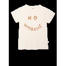 Ecru t-shirt met opschrift - Zoe ivory