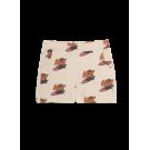 Zandkleurige short met varkentjes - Apollo surf pig
