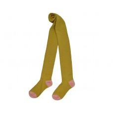 Mosterdgele kousenbroek - Tights knitwear mustard