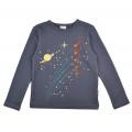 Grijsblauwe t-shirt de ruimte - Longsleeve space