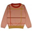 Oudroze sweater met strepen - Pullover girls checked gipull/check