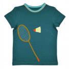 Grijsblauwe t-shirt badminton