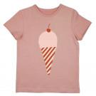 Oud roze t-shirt met ijsje - ice rose