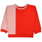 Sweater jacquard pink red dots