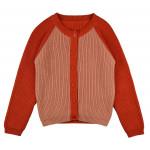 Rood/roze gebreide cardigan - cardigan girls cardigirl/birp