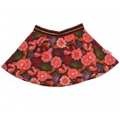 Zwierrokje met rode bloemen - Full circle skirt fcskirt/flora
