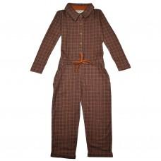 Bruine geruite jumpsuit - Aster jumpsuit brown check