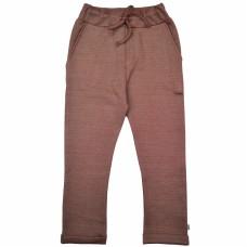 Donkerrode gestreepte broek - Baggy pant diagonal stripes