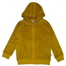 Okergele velours hoodie - Hoodie honey