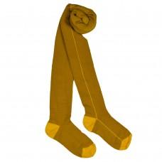 Mosterdgele kousenbroek - Tights yellow stripe