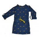 Blauw kleedje met blokjes - raglan dress cubes