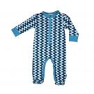Kruippakje met voetjes en ijsberen-footed bodysuit icebear blue: newborn - maat Newborn (Geboortelijst Seppe d.C.)