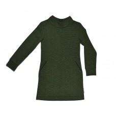 Groen- geel kraagkleed - colardress tricolor
