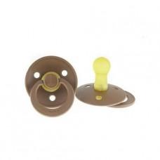 Lichtbruine BIBS latex fopspeen 6-18 m- brown mocha 28