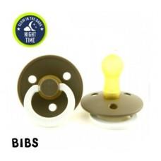 Bruingrijze glow in the dark BIBS latex fopspeen 6-18 - dark oak