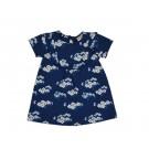 Petrolblauw babykleedje met fijne bloemetjes - babydress julia blue