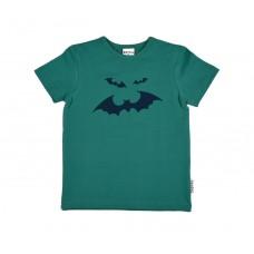 Groene t-shirt met vleermuizen - bat print