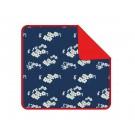 Petrolblauw deken met bleometjes - blanket julia blue