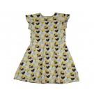 Kleed met vlindermouwen en bloemen - butterfy dress mae