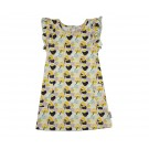 Bloemenkleedje met vlindermouwen - ruffle dress mae