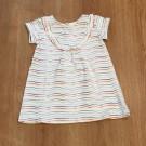 Babykleedje met kleurrijke streepjes - babydress stripes - maat 68 (Geboortelijst Fran S.)