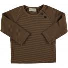 Karamelbruin gestreepte t-shirt - Striped t-shirt woodpecker caramel