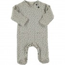 Beige kruippakje met blokjes - Moose printed cotton playsuit stone