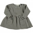 Grijs gestreept kleedje - Striped warm fleece dress stone