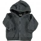 Grijs teddy jasje - Robin polar zipped jacket anthracite
