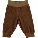 Karamelbruin velours babybroekje - Fern baby velour pants caramel