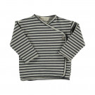 Grijs gestreepte wikkelt-shirt - Rain striped sweat t-shirt 17ice