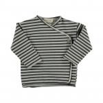 Grijs gestreepte wikkelt-shirt - Rain striped sweat t-shirt 17ice